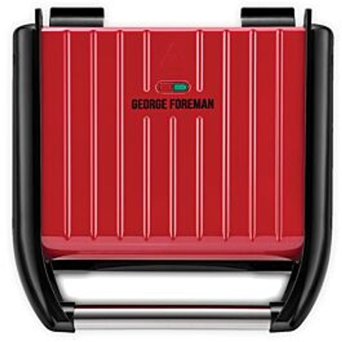 Cheap George Foreman Family 25040 5 Portion Steel Grill - Red Only £27.99