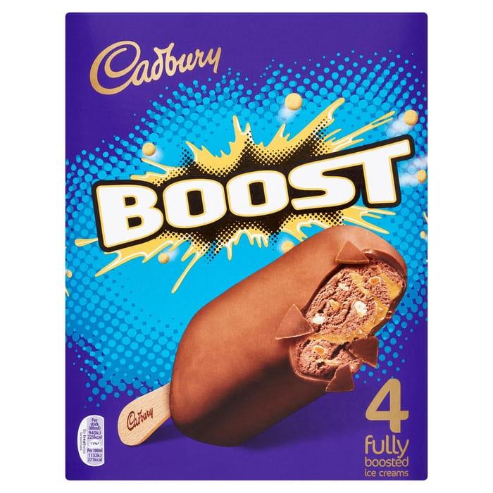 Cadbury Boost Fully Boosted Ice Creams 4 X 80ml (320ml)