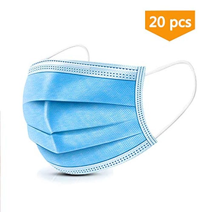 20 Surgical Face Masks 3 Ply