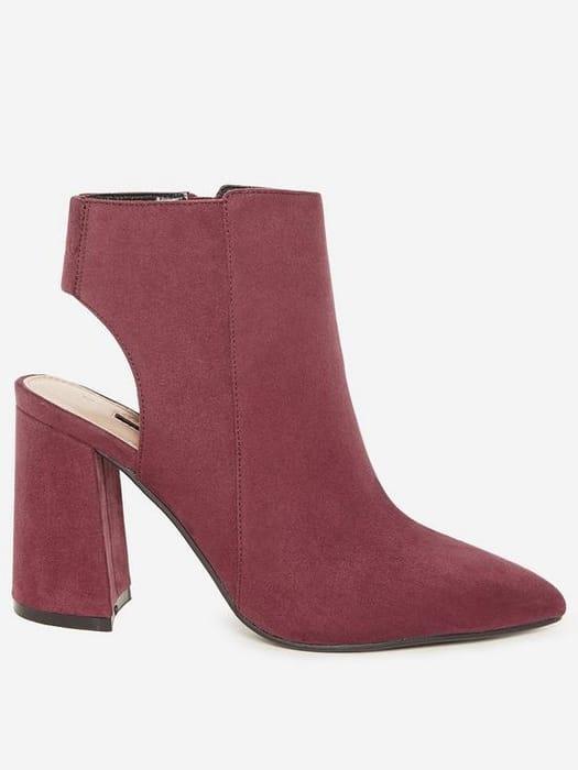 Dorothy Perkins Arlena Backless Boots - Burgundy
