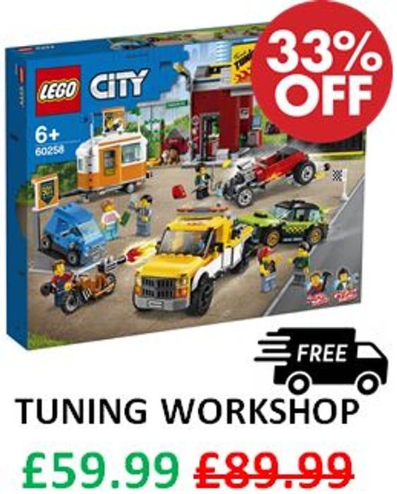 Save £30. LEGO Nitro Wheels Tuning Workshop. PLUS EXTRA 20% OFF LEGO SETS