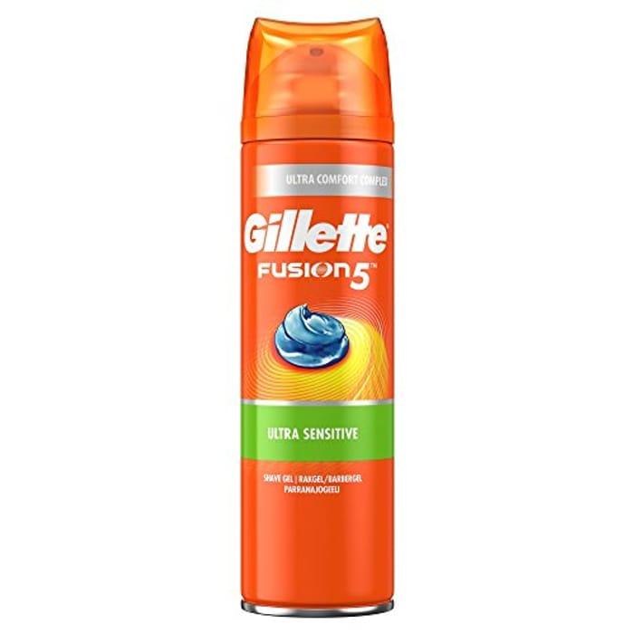 Gillette Fusion5 Ultra Sensitive Men's Shaving Gel 200 Ml