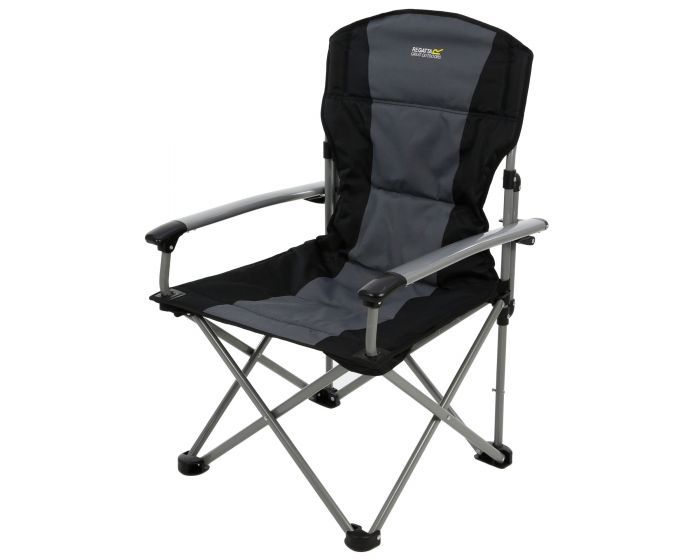 50% off Forza Reinforced Folding Chair Black Seal Grey