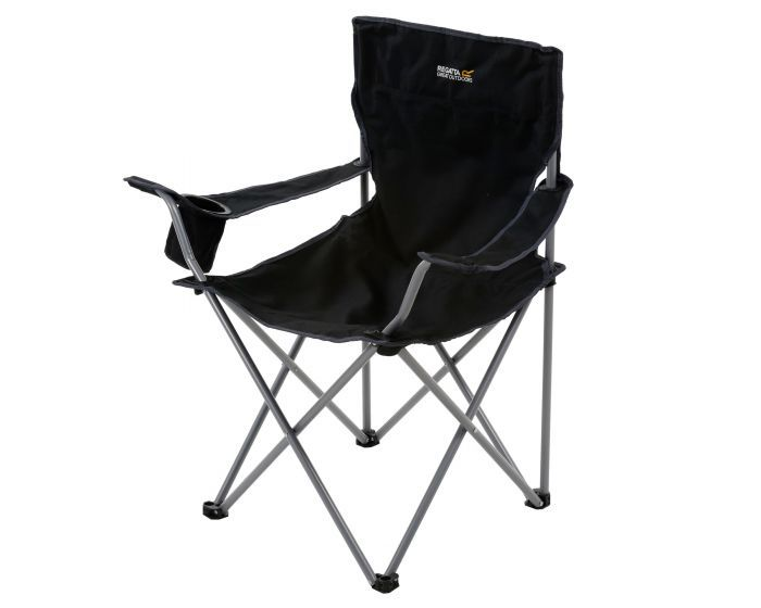 50% off Isla Lightweight Folding Camping Chair Black Seal Grey