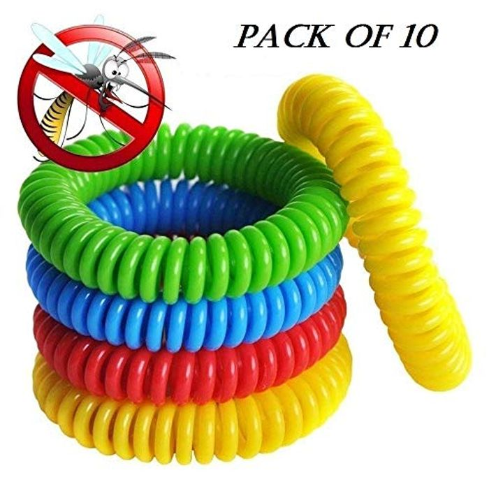TINGBA Mosquito Repellent Bracelet Pack of 10, 250 Hours Repellents Wristbands