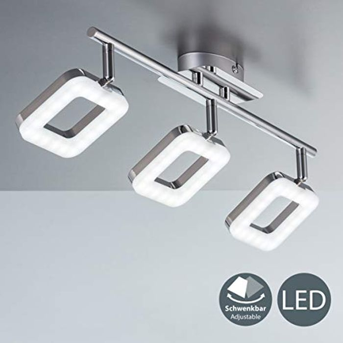 LED Ceiling Light, 3 Built-in 4W LED Boards at Amazon