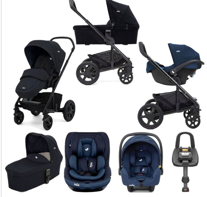Special Offer! Joie Chrome DLX Travel System - Carrycot and ISOFIX Base Bundle