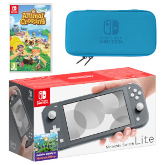 Nintendo Switch Lite (Grey) Animal Crossing: New Horizons Pack Only £249.99