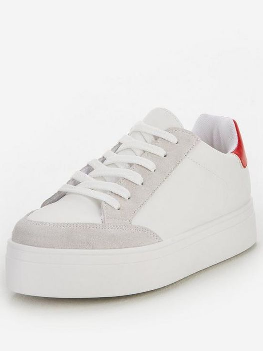 V by Very Contrast Trainer - White