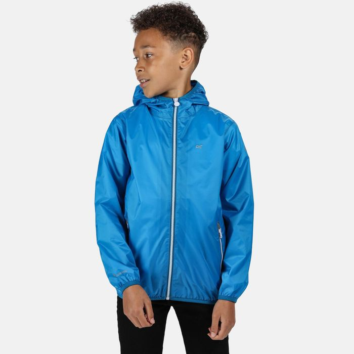 Regatta - Blue 'Lever Ii' Lightweight Hooded Waterproof Jacket