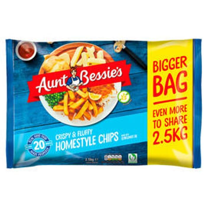 Aunt Bessie's Crispy & Fluffy Homestyle Chips 2.5kg, £3 at Iceland