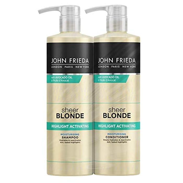 John Frieda Sheer Blonde Highlight Activating Shampoo and Conditioner