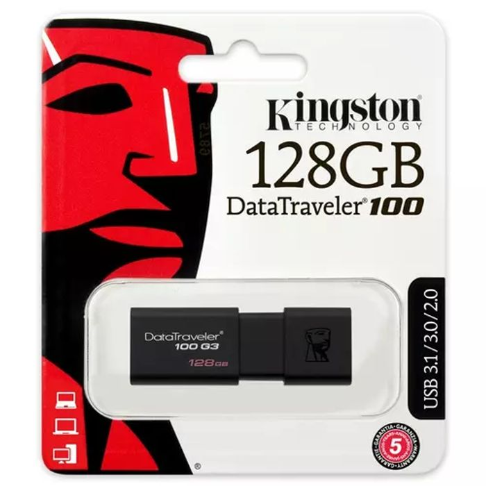 *SAVE £17* Kingston 128GB DataTraveler 100 G3 USB 3.1 Flash Drive