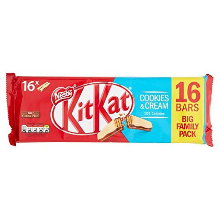 KITKAT 2 Finger Cookies and Cream Biscuit, 16 Bars