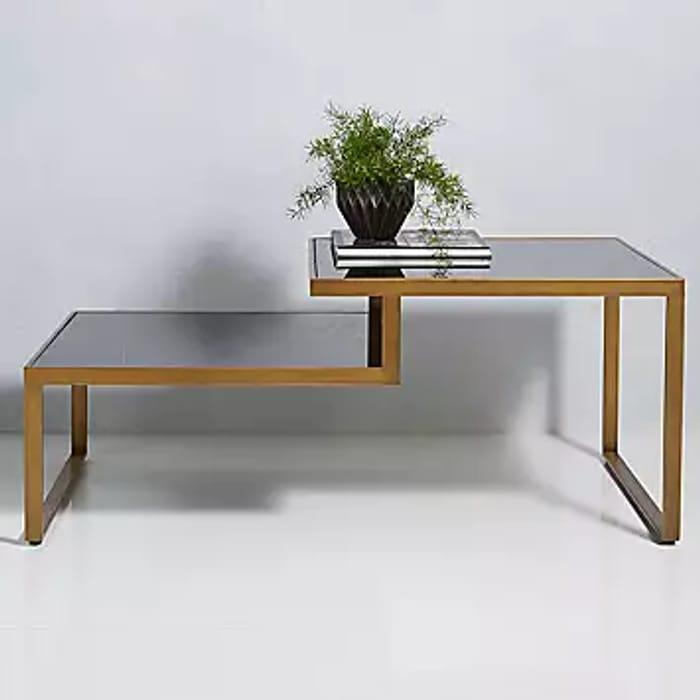 Cubix Glass & Metal Coffee Table