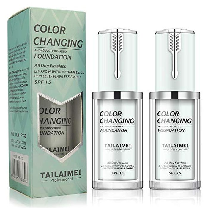Cheap 2Pcs Flawless Colour Changing Foundation Makeup Only £8.99