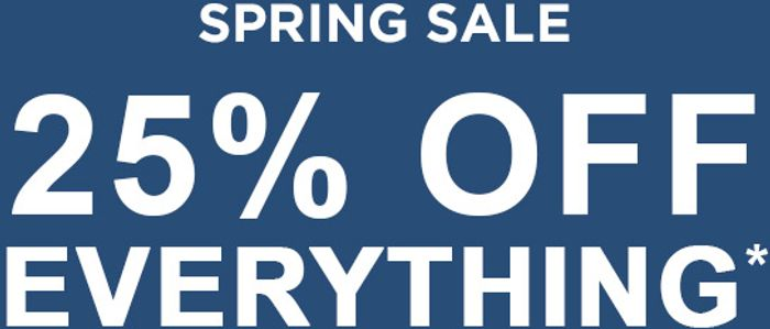 Spring Sale | 25% off Everything