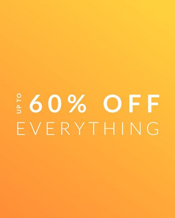 FLASH SALE - up to 60% off Everything at Wallis