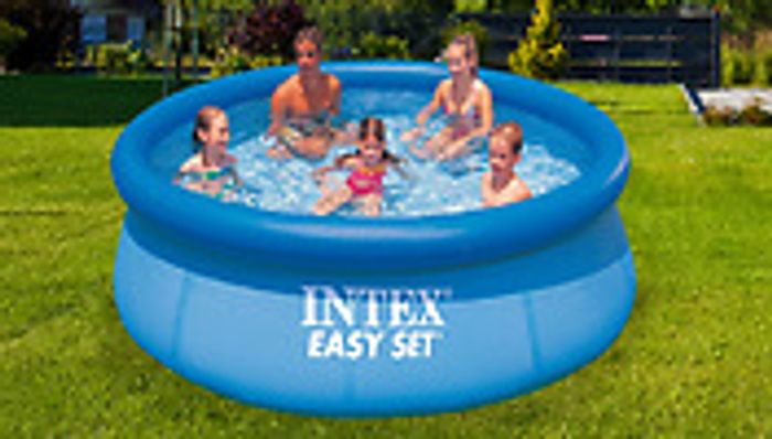 INTEX Easy Set Swimming Pool 8ft £39.99 Was £69.99, 10ft £59.99 Was £89.99