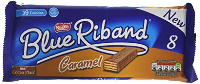 8 X Blue Riband Milk Chocolate Caramel Wafer Biscuit Bar £1 Prime