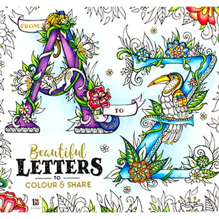 Cheap Beautiful Letters Colouring Book for Adults Only £4