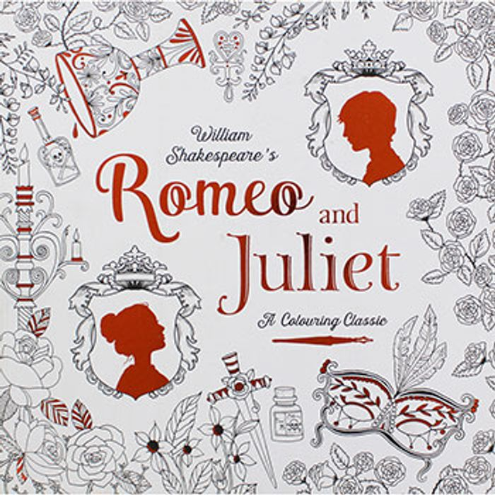 Romeo and Juliet - Adult Colouring Book - Save £6.99
