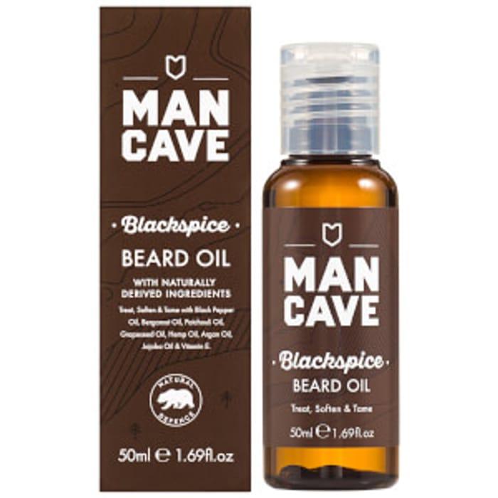 Cheap ManCave Beard Oil - Blackspice 50ml - Save £2.5