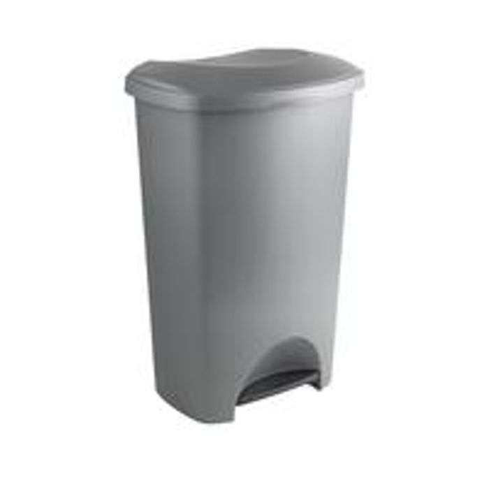 Addis 50-Litre Pedal Bin in Metallic Silver