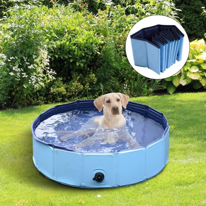 *SAVE £44* Pawhut 140 X 30H Cm Pet Swimming Pool-Blue