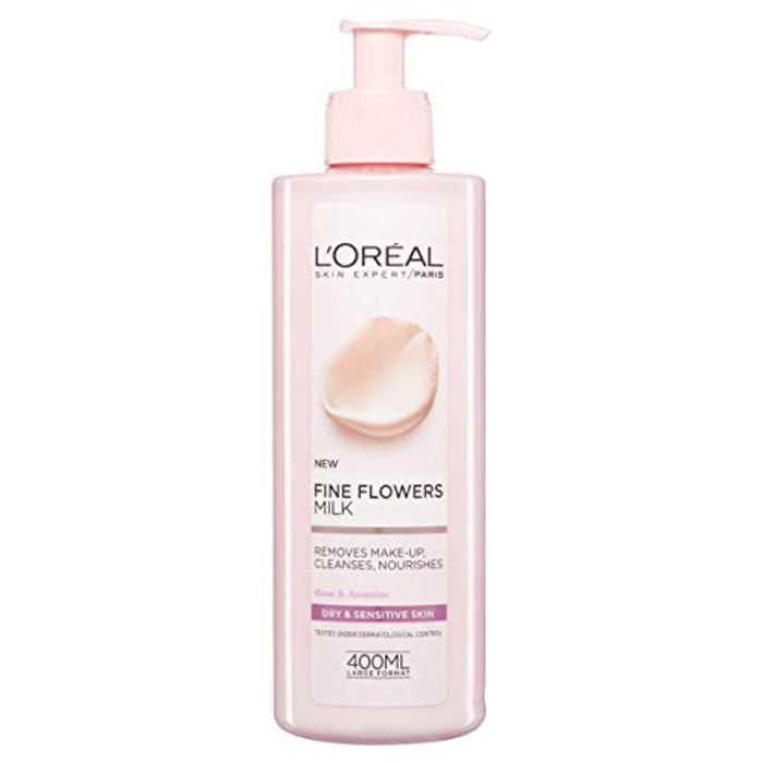 Cheap L'Oreal Fine Flowers Cleansing Milk, 400ml Only £3