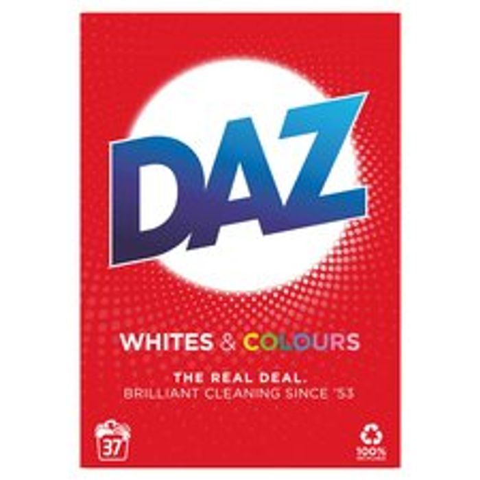 Daz Washing Powder for Whites & Colour 37 Washes 2.405Kg