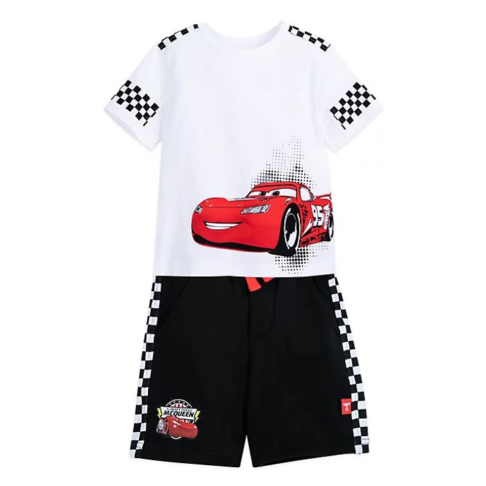 Best Price! Disney Store Lightning McQueen Top and Shorts Set for Kids