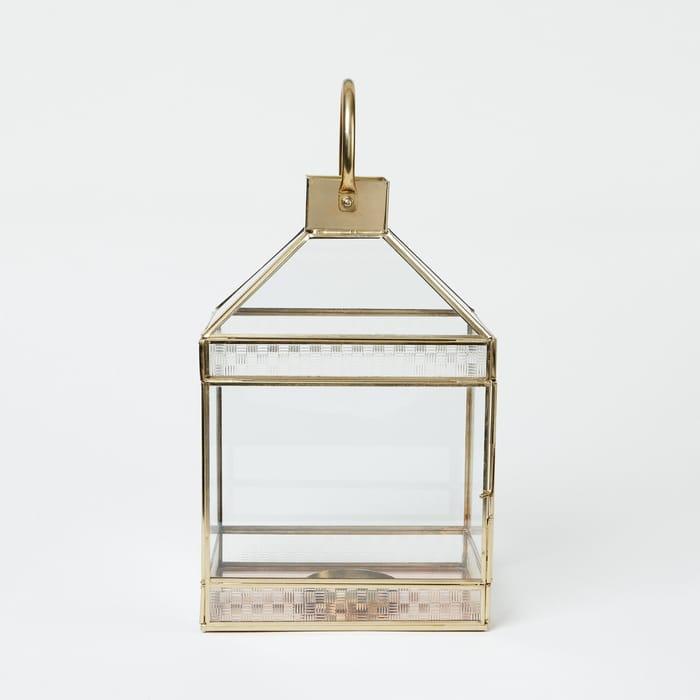 Debenhams - Metallic Metal Lantern HALF PRICE