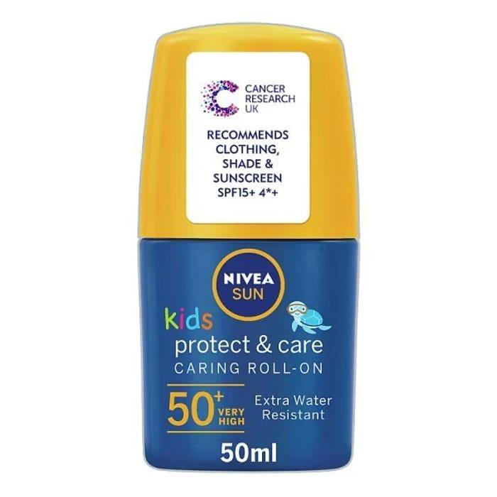Special Offer - NIVEA SUN Kids Suncream Roll-on SPF 50+, 50ml - No Prime Needed