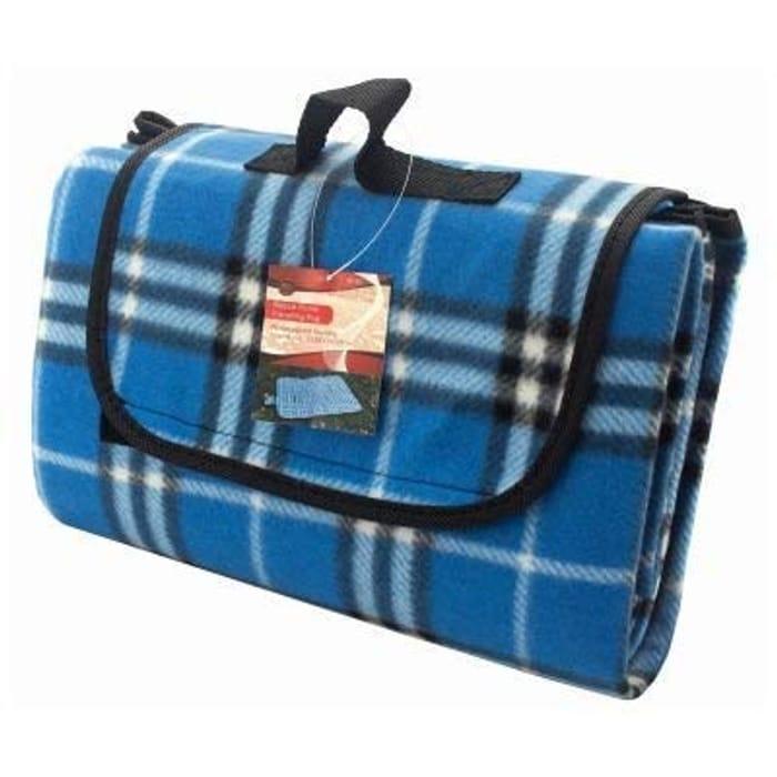 HomeZone Fleece Outdoor Picnic Blanket, Waterproof 135cm X 105cm FREE DELIVERY