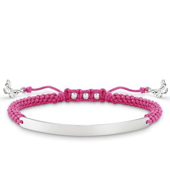 Best Price! Thomas Sabo - Outlet - Sterling Silver Pink Butterfly Bracelet