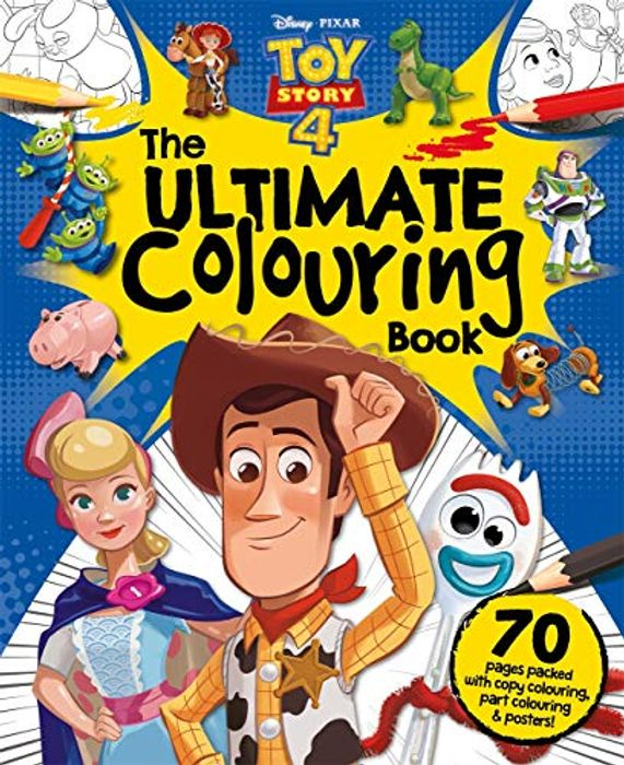Disney Pixar Ultimate Toy Story 4 Colouring Book - 1/2 Price