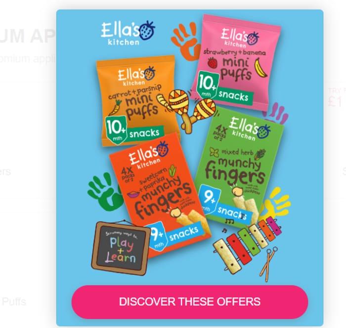 Ella's Kitchen Organic Finger Food (4 Items)