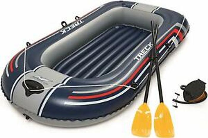 "Bestway 90"" Hydro-Force Treck X1 Raft Dinghy Set Complete with Oars and Pump"