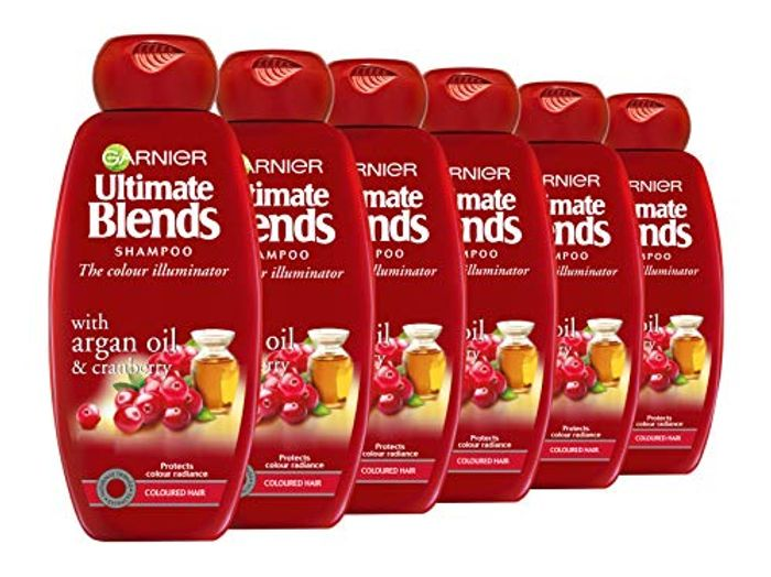 Garnier Ultimate Blends Argan Oil Coloured Hair Shampoo, 360 Ml, Pack of 6