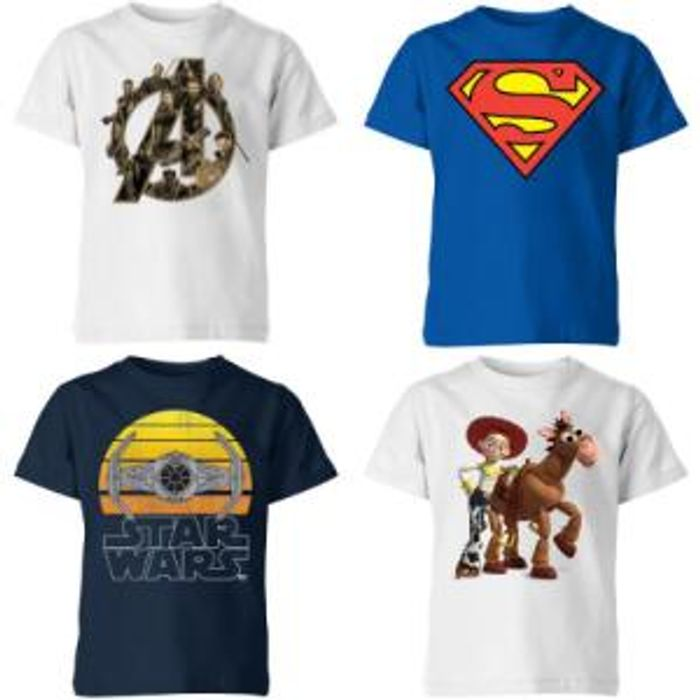 Any 2 Kids Character T-Shirts for £10 Delivered with Code!