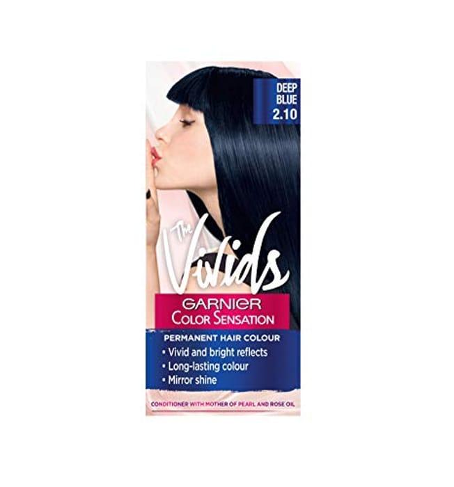 Garnier Color Sensation Vivids Blue Hair Dye Permanent 2.10 Deep Blue