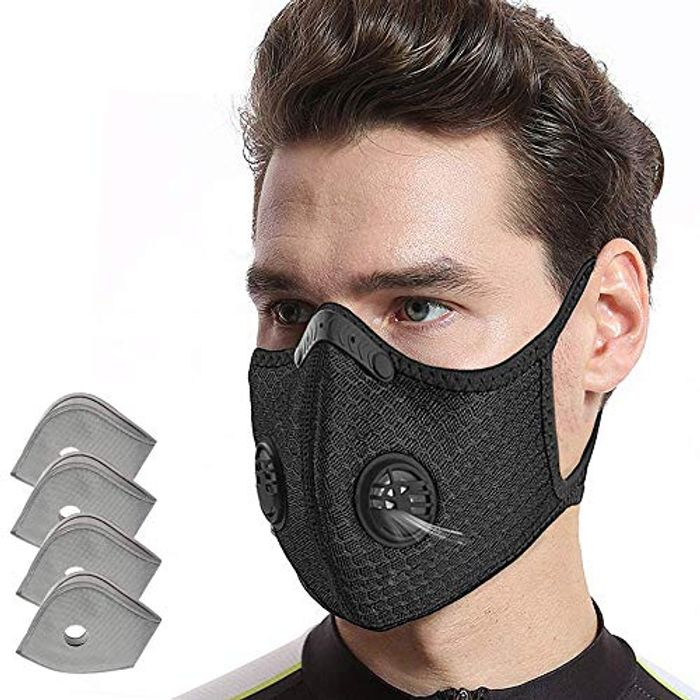 Dust Mask with 4pcs Additional Activated Carbon Filter