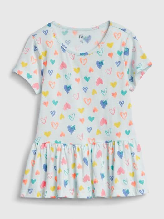 Toddler Peplum Tunic T-Shirt Sizes 2Y, 3Y & 4Y