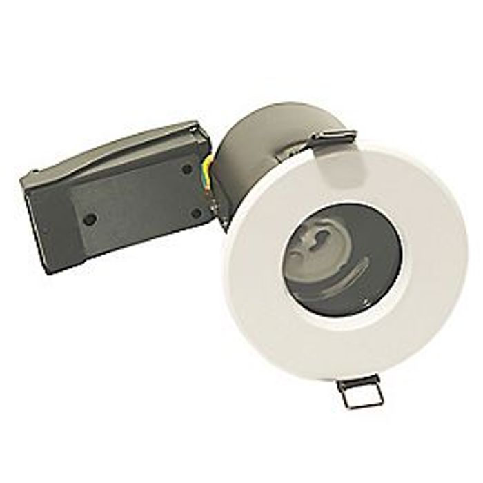 FIXED FIRE RATED DOWNLIGHT WHITE - Suitable for Bathrooms Too