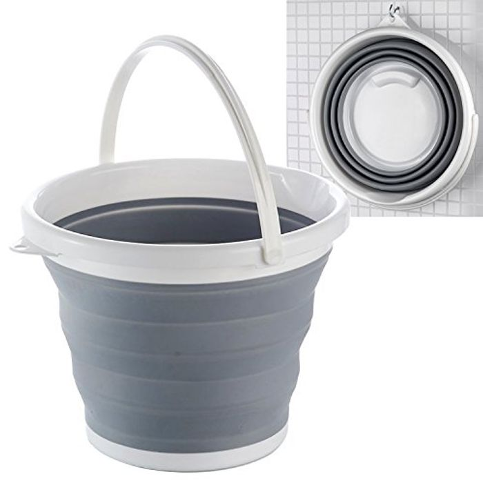 Denny International Collapsible Folding Silicon Plastic Bucket FREE Delivery