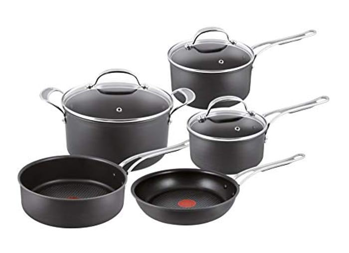 Tefal Jamie Oliver Hard Anodised Premium Series - 5 Piece Cookware Set