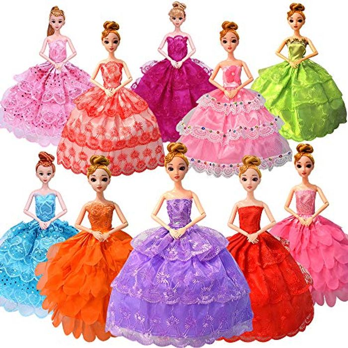 Barbie Clothes10 Pack Handmade Wedding Dress