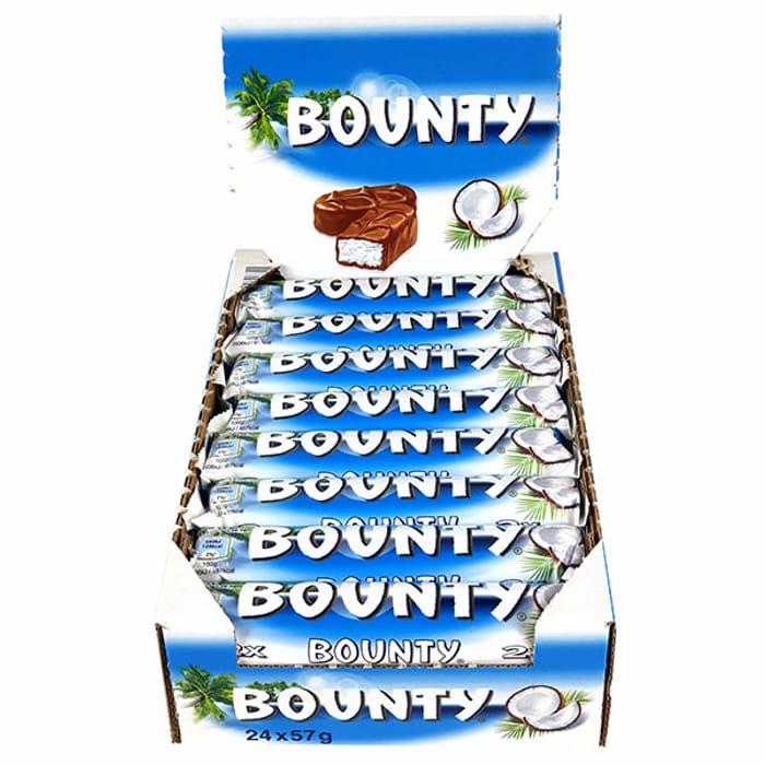 24 X Bounty Original 57g Twin Chocolate Bars