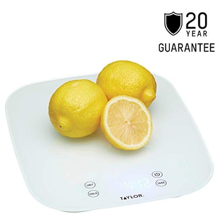 Digital Kitchen Scales in Gift Box, Glass, White
